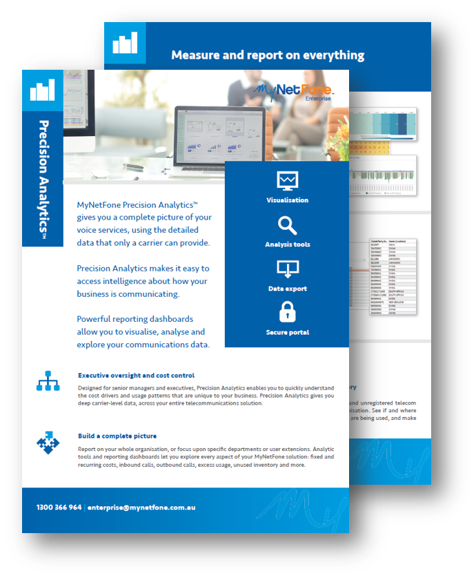 Precision Analytics Product Brochure