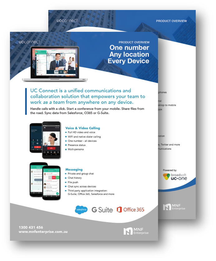 UC Connect Product Brochure